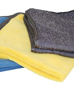 3PK Microfiber Towels/Body, Glass, Wheels 14X14